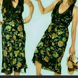 Topshop Kate Moss black lace floral slip dress 4